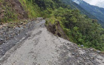 Tres semanas tardaría reabrir la vía a Ituango